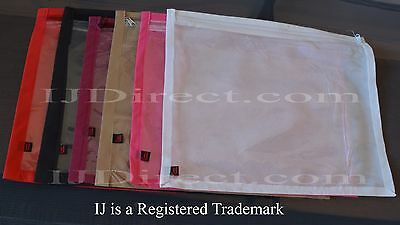 10 20 30 Pack Saree Cover Bags Packaging Storage One Side Clear clothes Zip