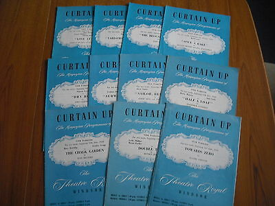 11 x CURTAIN UP THEATRE PROGRAMMES - THEATRE ROYAL, WINDSOR  - 1958
