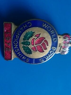 WORLD BOWLS CHAMPIONSHIP [1972] bowls. badge