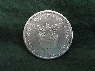 1909 S United States/Philippines One Peso Silver Coin