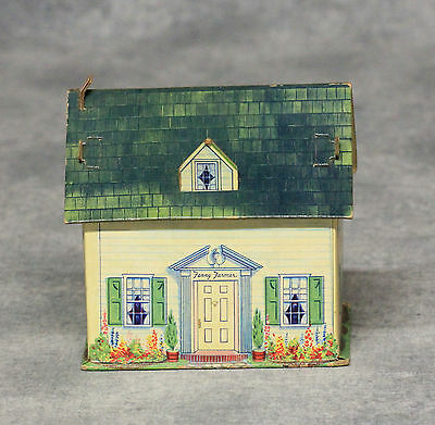 Vintage Fanny Farmer Candies Cardboard House Candy Container, Summer Version
