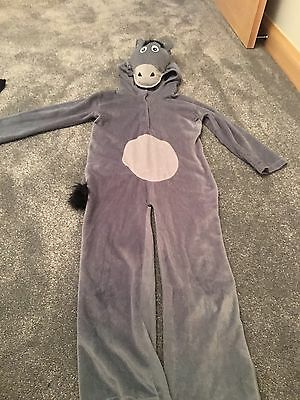 Kids Eeyore Fancy Dress Costume Boys Or Girls Donkey Dress Up Book Day Outfit