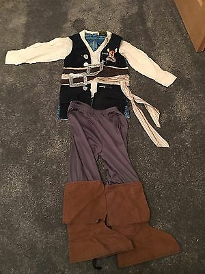 Kids Pirate Of The Caribbean Fancy Dress Costume Boys Dress Up Outfit