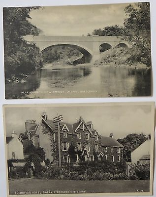2 Postcards Of Dalry Kirkcudbrightshire