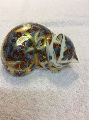 2nd ROYAL CROWN DERBY CONTENTED KITTEN PAPERWEIGHT