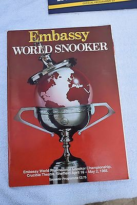 Embassy World Snooker Championship 1988 - EXCELLENT