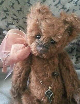 CHARLIE BEARS BRANDY SNAP  - limited edition mohair bear with bag and tag