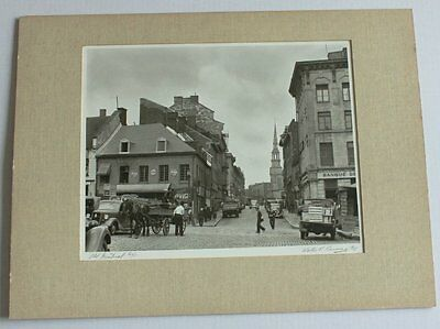 """Original Photograph """"Old Montreal"""" Walter P. Bruning 1935 Canada St. Paul St."""