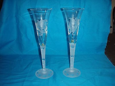 """Pepe Le Pew And Penelope """"true Love"""" Toasting Flutes - #627 Of 750"""