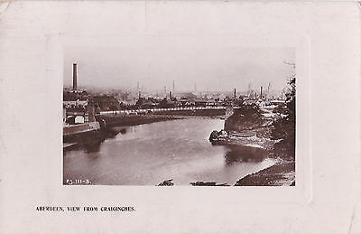 Aberdeen View From Craiginches . Rapid Photo Co, Real Photograph Postcard