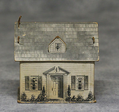 Vintage Fanny Farmer Candies Cardboard House Candy Container, Winter Version