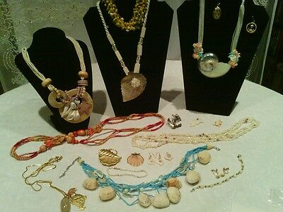 Lovely lot of summer/beach theme Jewelry, some vintage, 2 sets