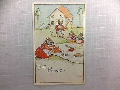 L A GOVEY  Signed Old Postcard  'The Mouseykins'  Series   c. 1926      B16