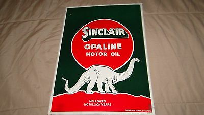 "Sinclair Oil TIn retro sign - 10.5"" x 14.5"""
