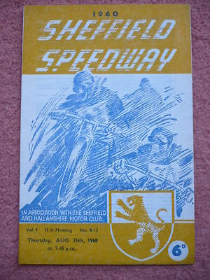 1960 Sheffield speedway programme v Yarmouth - Provincial League