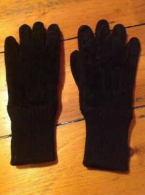 mens leather & wool gloves / large