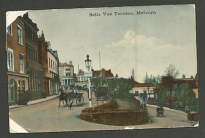 Belle Vue Terrace, Malvern. Colour printed. Used & posted 1919.