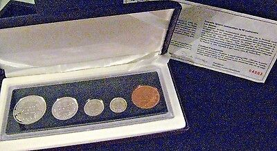 1998 Canada 90th Anniversary 5 Coin Proof Set Case & COA ** FREE US SHIPPING **