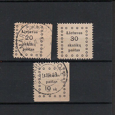Lithuania Selected Early Stamps Including One Unused