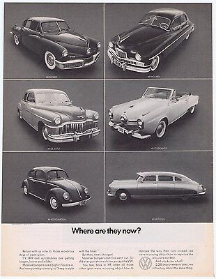 1970s Vintage Volkswagen Beetle VW Bug Car Original Where Are They Now Print Ad