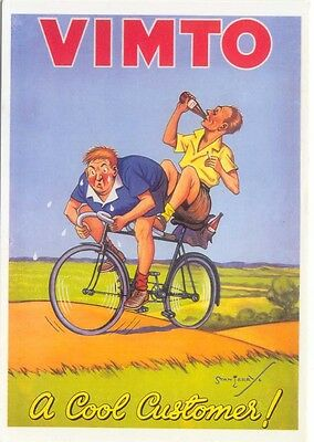 Cycling promoting Vimto Modern colour postcard by Santoro Graphics Stan Terry