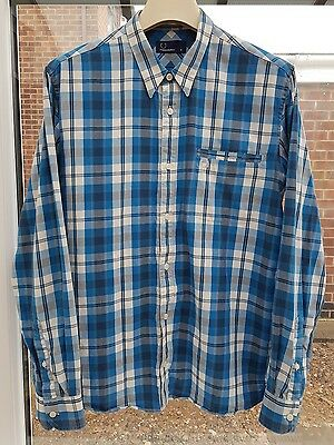 Men's Fred Perry L/S Check Shirt Size M