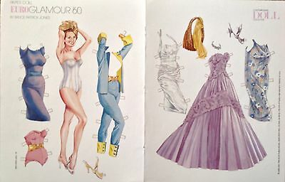 EuroGlamour Paper Doll by Bruce Patrick Jones,1996, Mag. Color Plate