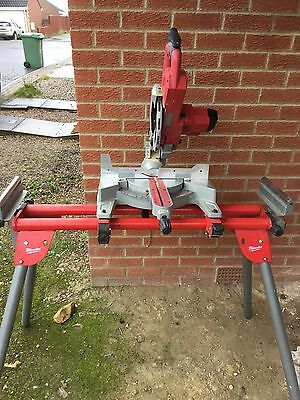 Milwaukee M18sms 216 Cordless Mitre Saw 18 Volt With Stand And Dust Extractor