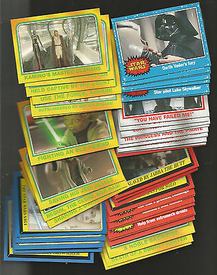 Star Wars Heritage Gum Cards X 52 Different