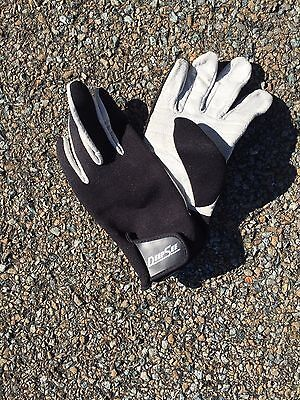 Deep See Diving / Snorkeling Gloves ~ Size Large Leather Palms Never Used