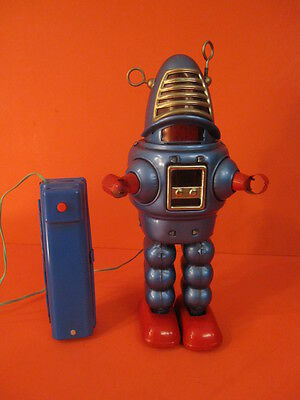 Original Yoshiya Blue Robby Planet Robot Battery Operated 1962 Space Toy