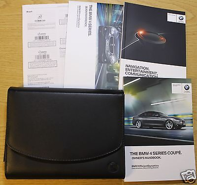 Bmw 4 Series Coupe F32 Handbook Owner Manual Wallet 2013-2015 Pack 7268
