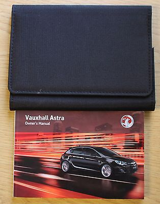 Vauxhall Astra J Owners Manual Handbook Wallet 2009-2012 Pack 12256