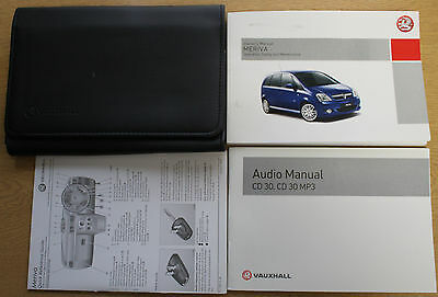 Vauxhall Meriva Handbook Owners Manual Wallet 2006-2010 Pack 12676
