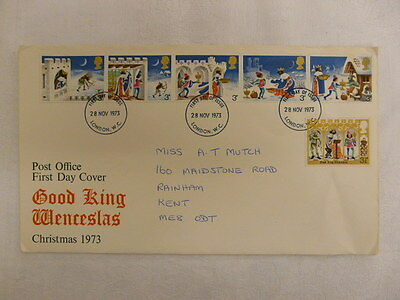 Fdc -  Gb - Christmas First Day Cover - 1973.