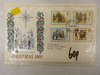 Fdc -  Gb - Christmas First Day Cover - 1978