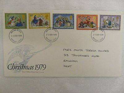Fdc -  Gb - Christmas First Day Cover - 1979.