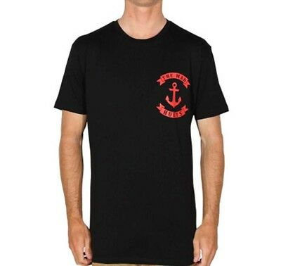 The Mad Hueys Anchor Tee - Black/Red