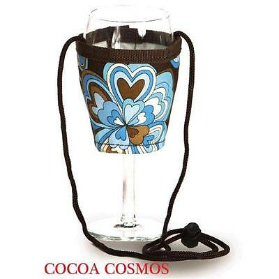 Picnic Plus PSM-167Cc Wine Glass Lanyard 2 Cocoa Cosmos