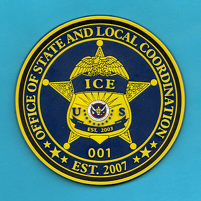 E32 * Symbol Arts Vinyl Rubber Ins Doj Service Dhs Ice Federal Fbi Police Patch