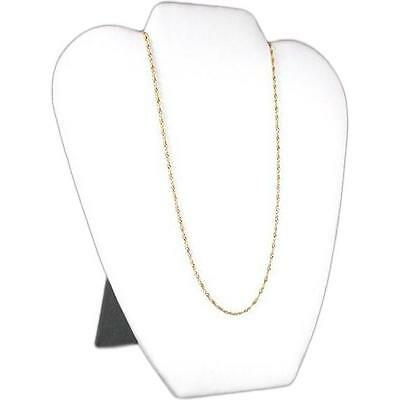 Bust Display Necklace Pendant White Faux Leather