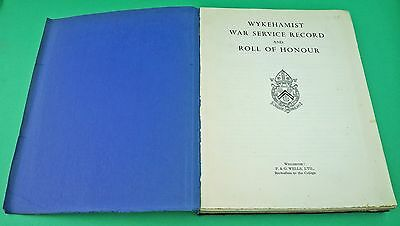 Wykehamist War Service Record and Roll of Honour