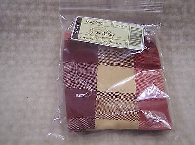 Longaberger SMALL BERRY BASKET LINER EVERYDAY PLAID - RETIRED