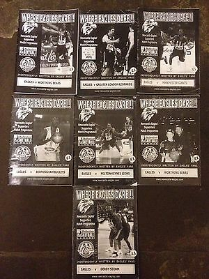 Newcastle Eagles Supporters Match Programmes X 7