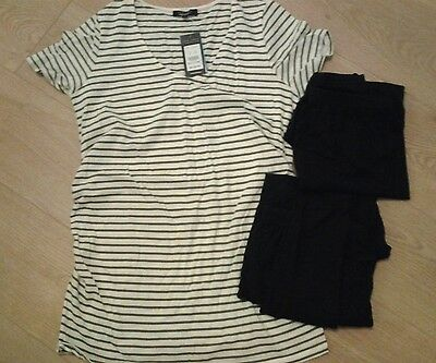maternity leggings size S & M plus new top 14