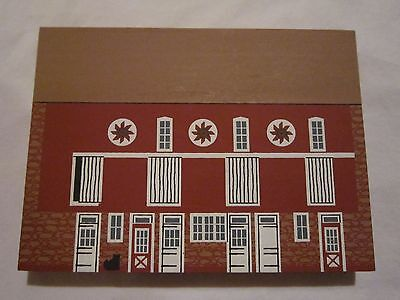 Pennsylvania Bank Barn Amer Series 1992 Cat's Meow Village Real Wood Nev Dsplyd