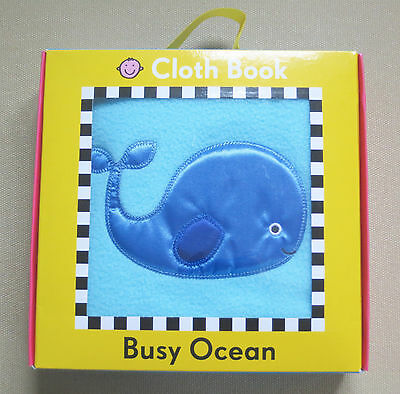Busy Ocean Cloth/Fabric baby Priddy touchy/feely book_16x16cm_OPENED-NEVER USED