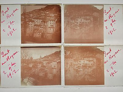 ROYAN FRANCE 1912 6 PLAQUES VERRE STEREO VUES STEREOSCOPIQUES 45x107