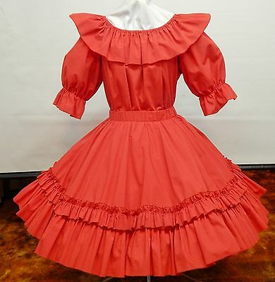 2 Piece Red Square Dance Dress