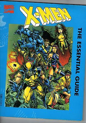 X MEN THE ESSENTIAL GUIDE BOOK Science Fiction By Boxtree by John Mosby 1994